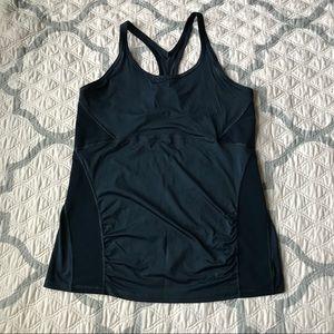 ATHLETA tank top Sz XL muscle shirt blue